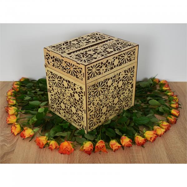 Cutie pentru dar din lemn natural 1