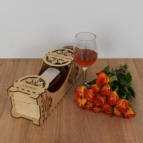 Cutie de vin personalizata - CDV002 1