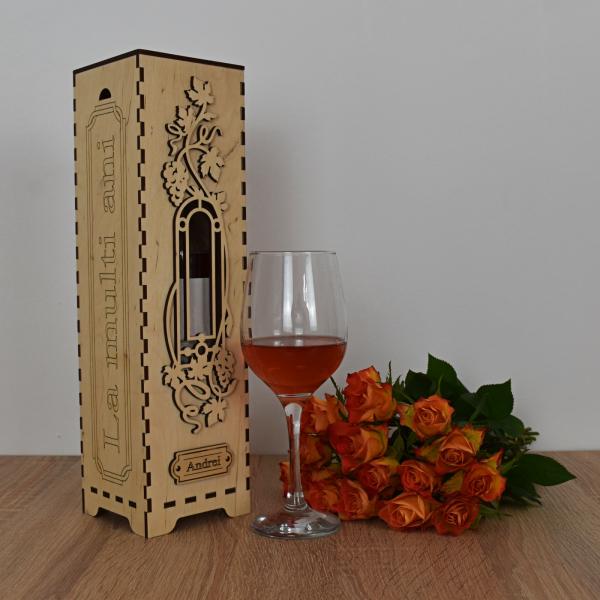 Cutie de vin personalizata - CDV003 0
