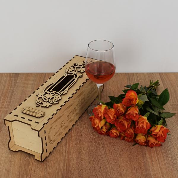 Cutie de vin personalizata - CDV003 2