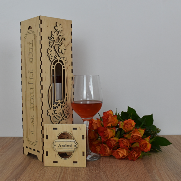 Cutie de vin personalizata - CDV003 1
