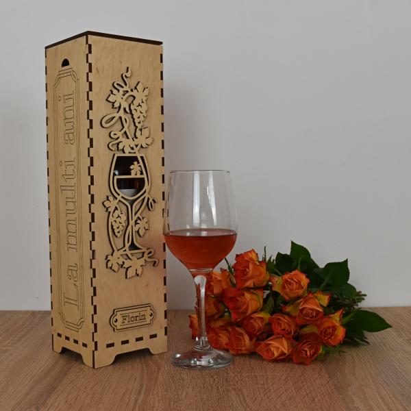 Cutie de vin personalizata - CDV005 0