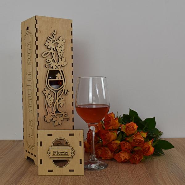 Cutie de vin personalizata - CDV005 1