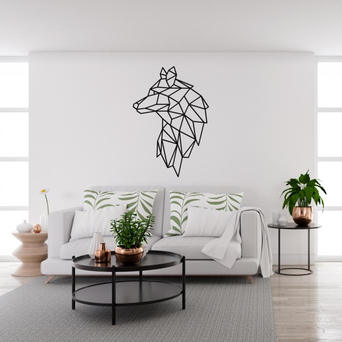Decoratiune perete - Geometric wolf 1