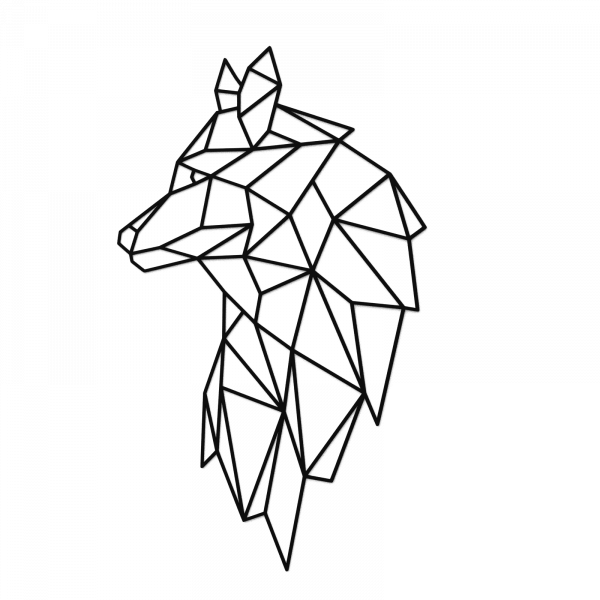 Decoratiune perete - Geometric wolf 0