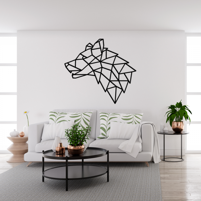 Decoratiune perete - Geometric wolf head 1