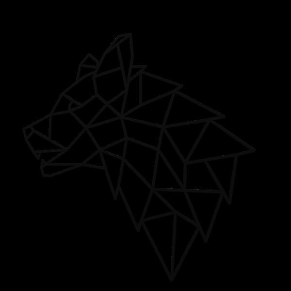 Decoratiune perete - Geometric wolf head 0