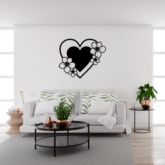 Decoratiune perete - Inima infloritoare [1]