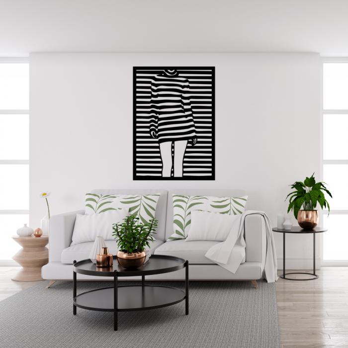 Decoratiune perete - Girl silhouette panel 1