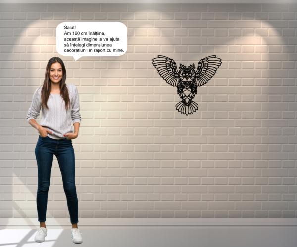 Decoratiune perete - monoline owl design 5