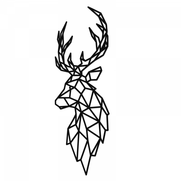 Decoratiune perete - Polygonal deer 0