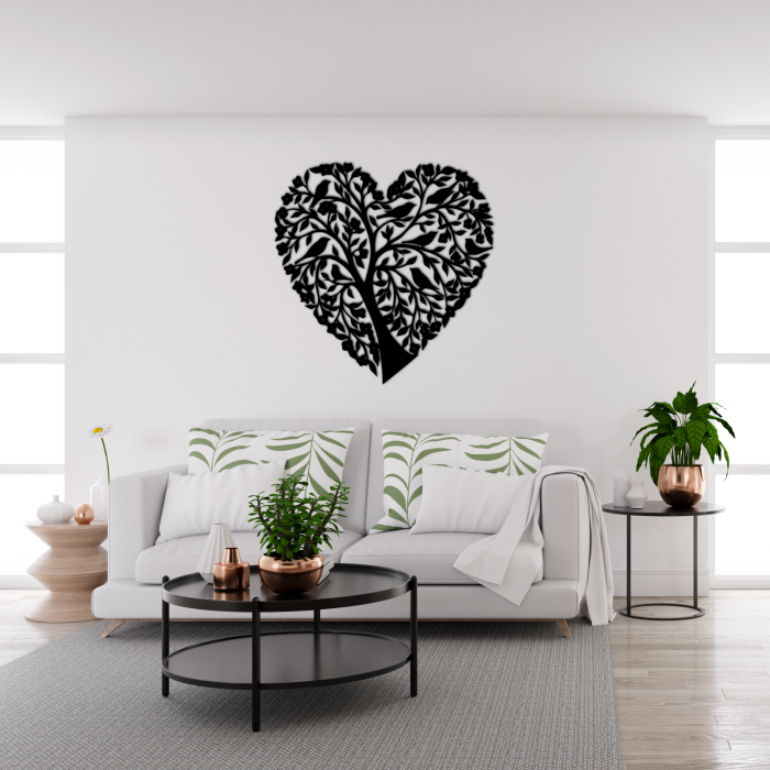 Decoratiune perete - Tree heart with birds [1]