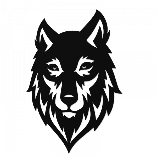 Decoratiune perete - Wolf head 0