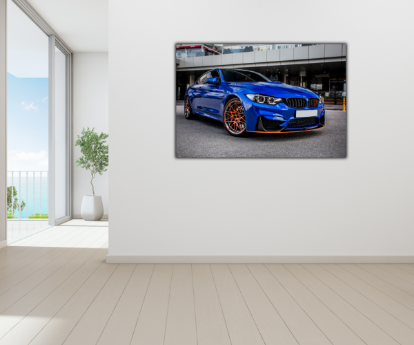 Tablou modern pe panou - blue sport car 3