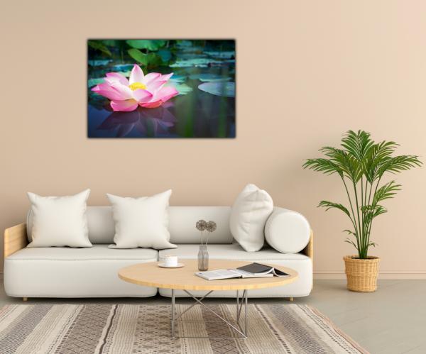 Tablou modern pe panou - pink lotus flower 1