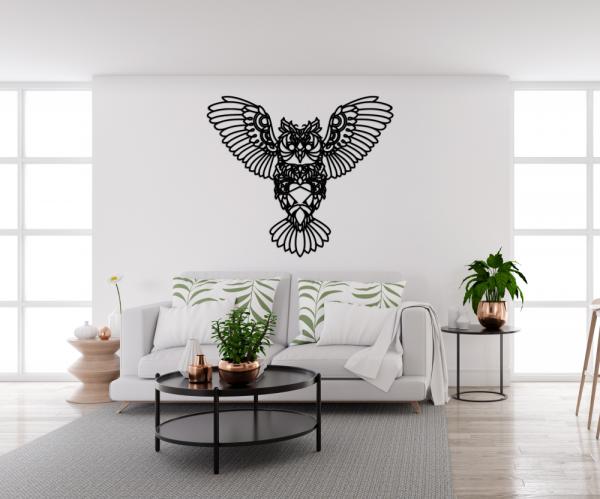 Decoratiune perete - monoline owl design 3