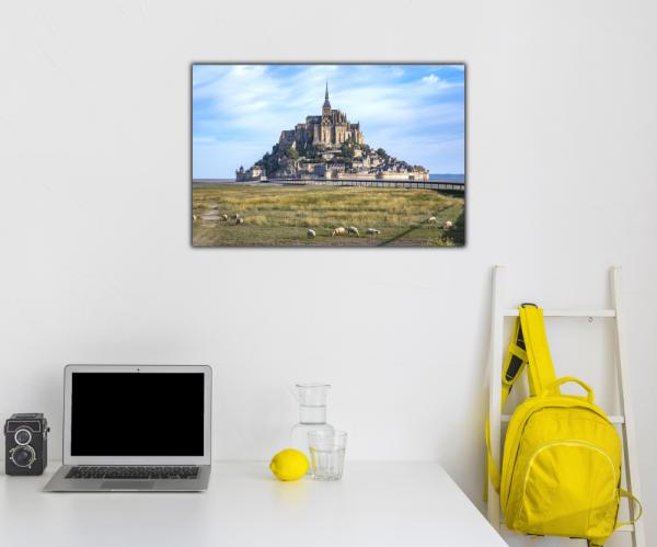 Tablou modern pe panou - Mont Saint Michel Abbey 2
