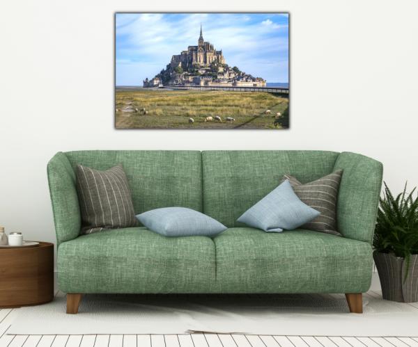 Tablou modern pe panou - Mont Saint Michel Abbey 3