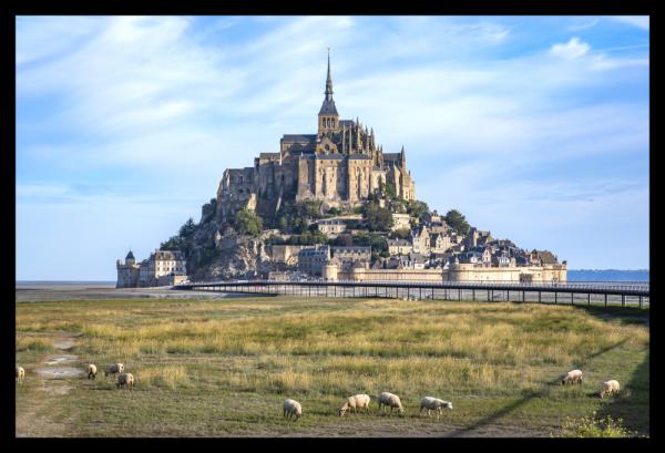 Tablou modern pe panou - Mont Saint Michel Abbey 0