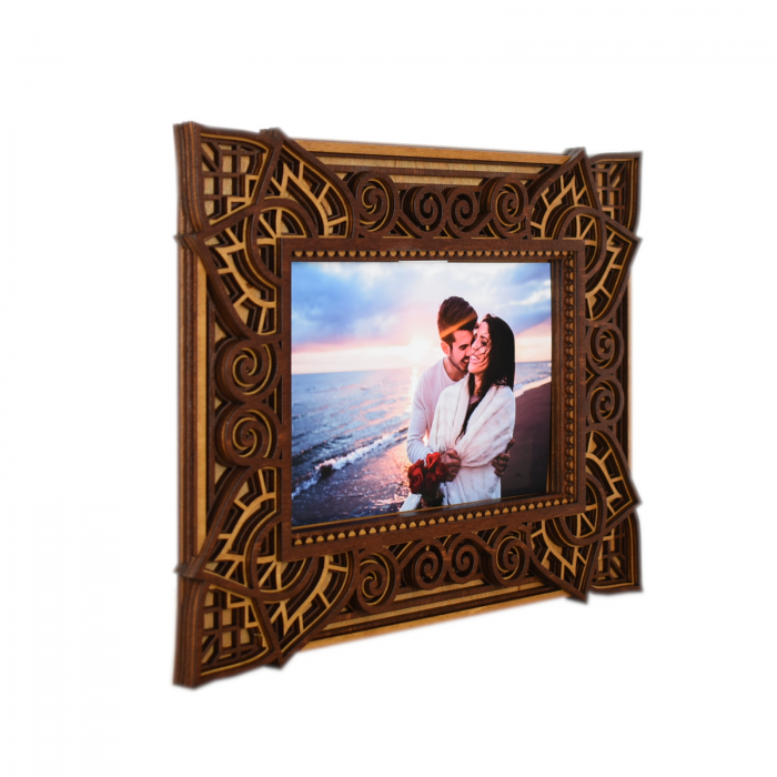 Rama foto mandala din lemn - RFS002 [3]