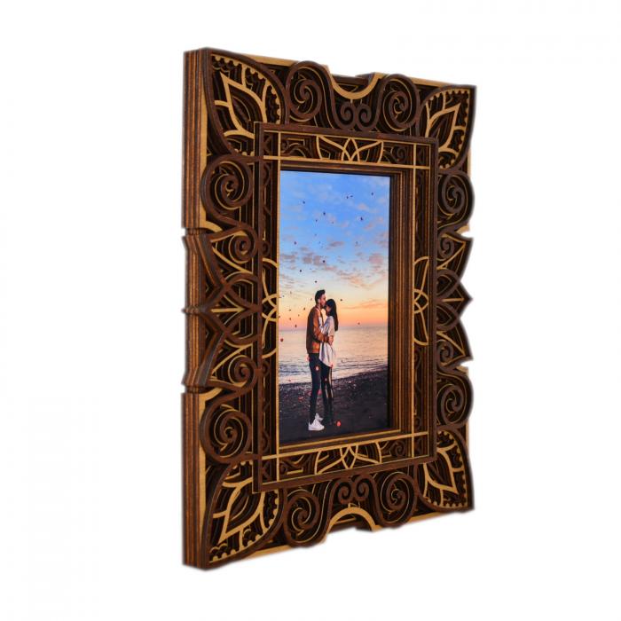 Rama foto mandala din lemn - RFS003 [1]