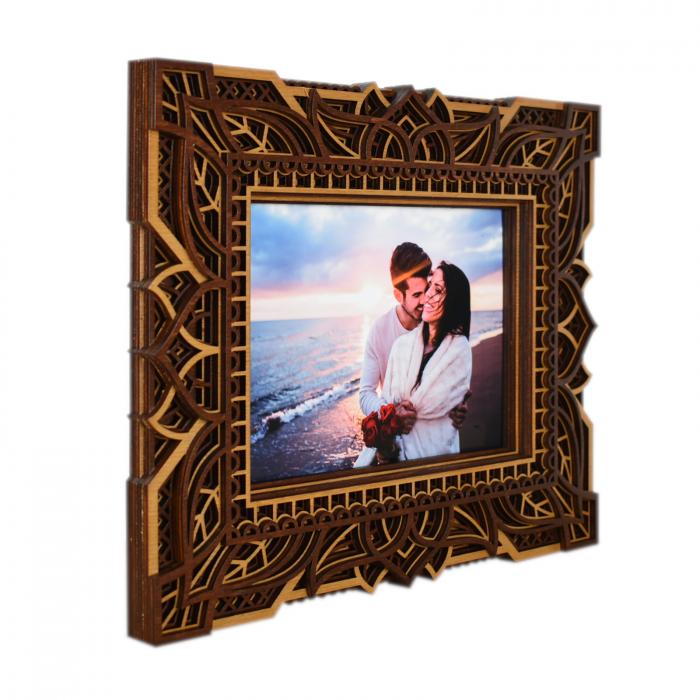 Rama foto mandala din lemn - RFS005 [3]