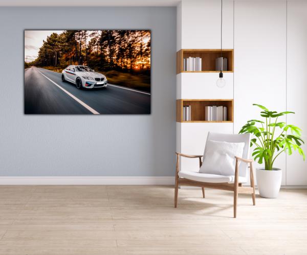 Tablou modern pe panou - luxury sport sedan 4