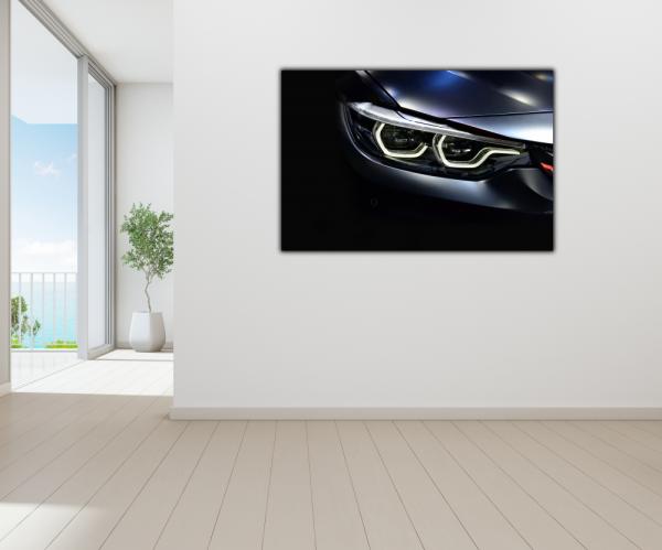Tablou modern pe panou - led headlights modern car 3