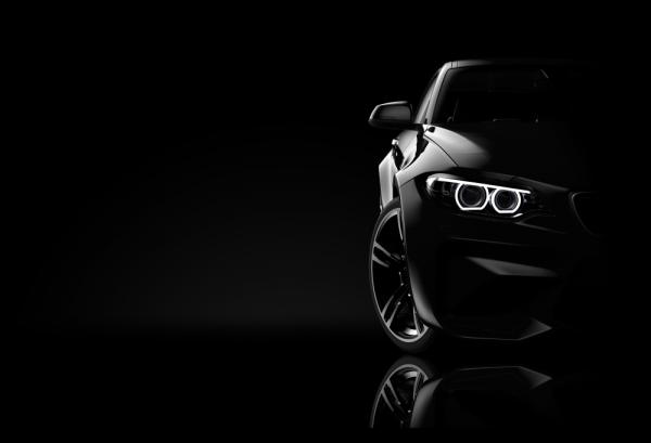 Tablou modern pe panou - black sport car 0