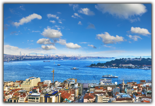 Tablou modern pe panou - panoramic view Galata tower Istanbul 0
