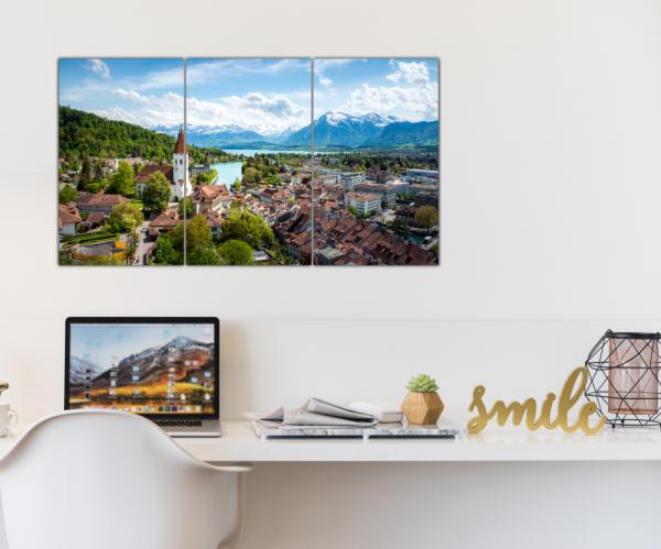 Tablou modern pe panou - Switzerland city 2