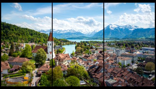 Tablou modern pe panou - Switzerland city 0