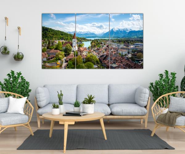 Tablou modern pe panou - Switzerland city 1