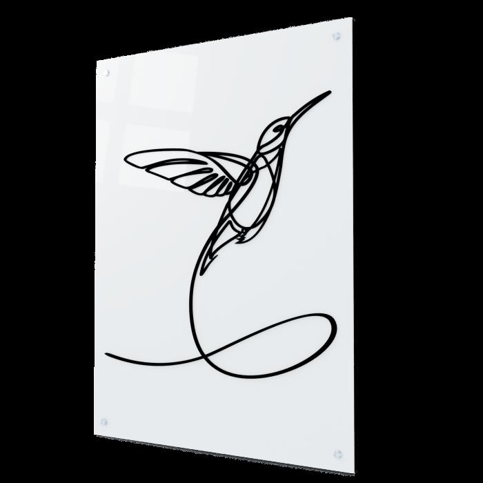 Tablou art line din sticla acrilica - Hummingbird One Line [0]