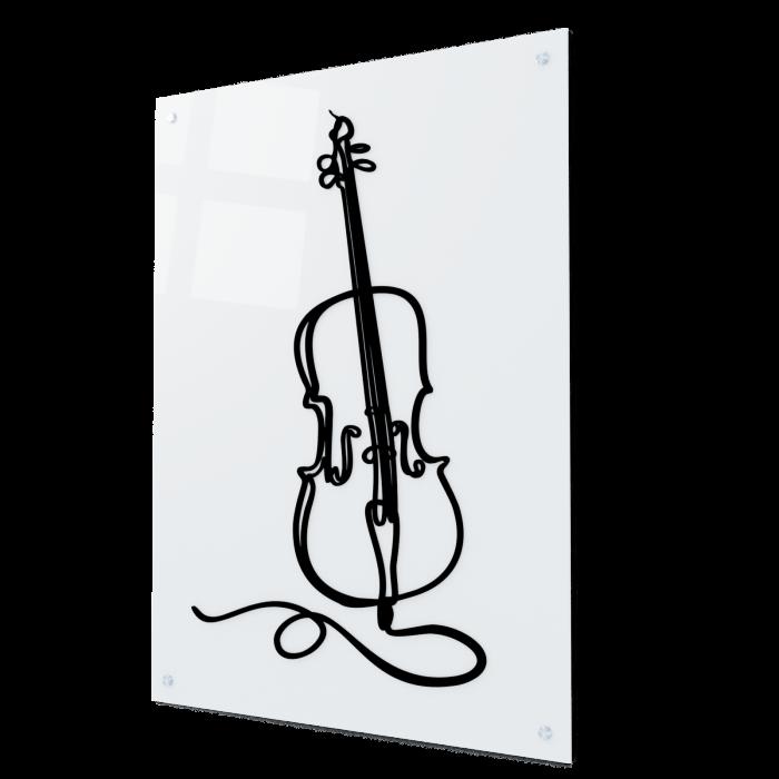Tablou art line din sticla acrilica - Violoncelle 0