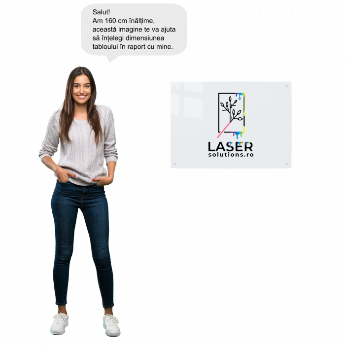 Tablou art line din sticla acrilica - Map and faces 3