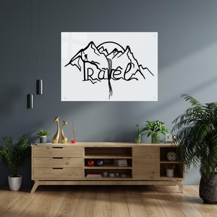 Tablou art line din sticla acrilica - Travel Mountains 1