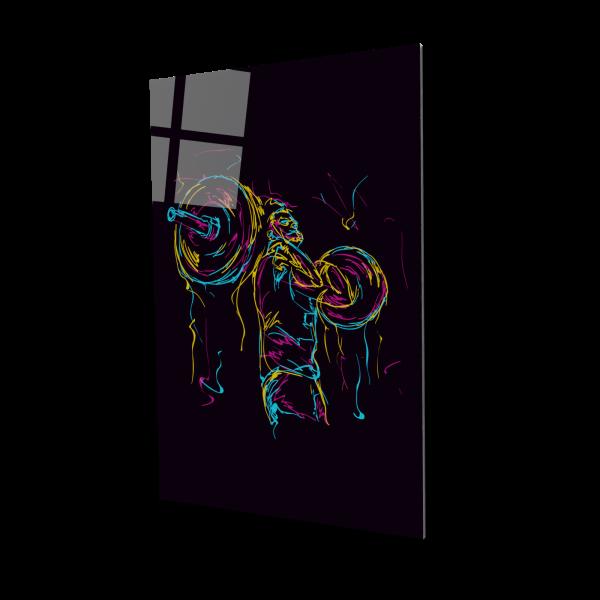 Tablou din sticla acrilica - abstract strong man 0