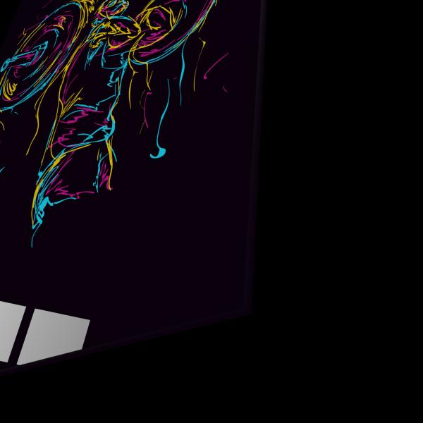 Tablou din sticla acrilica - abstract strong man 1