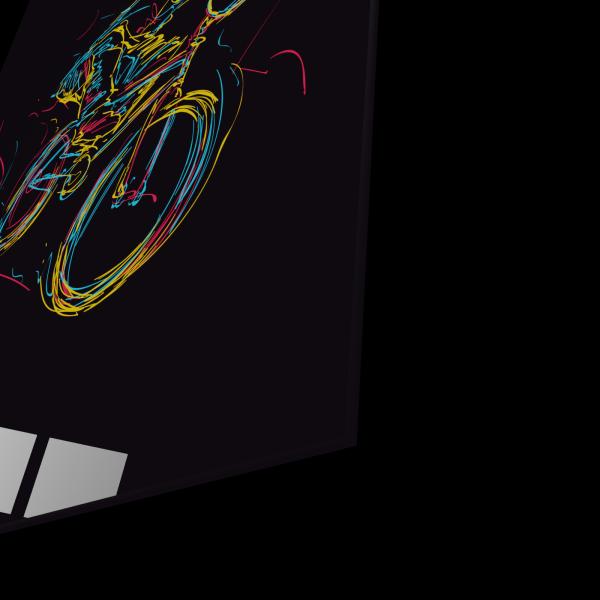 Tablou din sticla acrilica - bmx rider 1