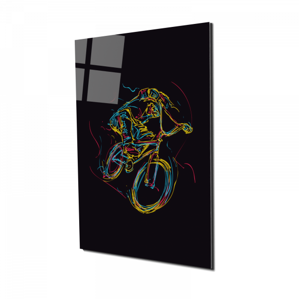 Tablou din sticla acrilica - bmx rider 0