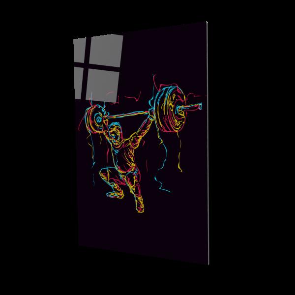 Tablou din sticla acrilica - abstract powerlifter 0