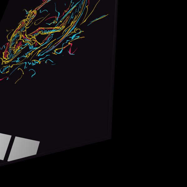 Tablou din sticla acrilica - abstract surfer 1