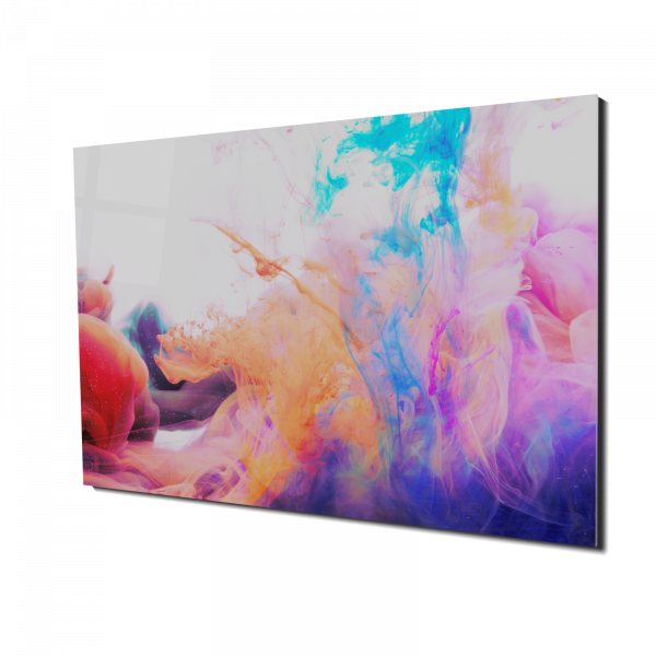 Tablou din sticla acrilica - Valuri de culori [0]