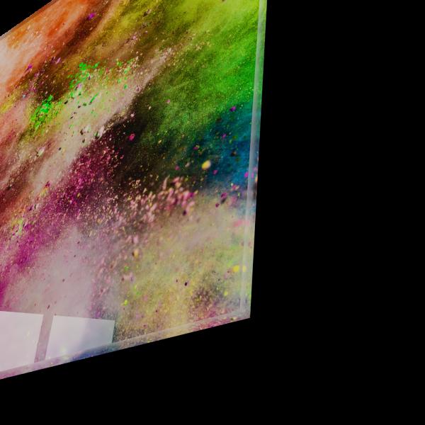 Tablou din sticla acrilica - colorful powder 1