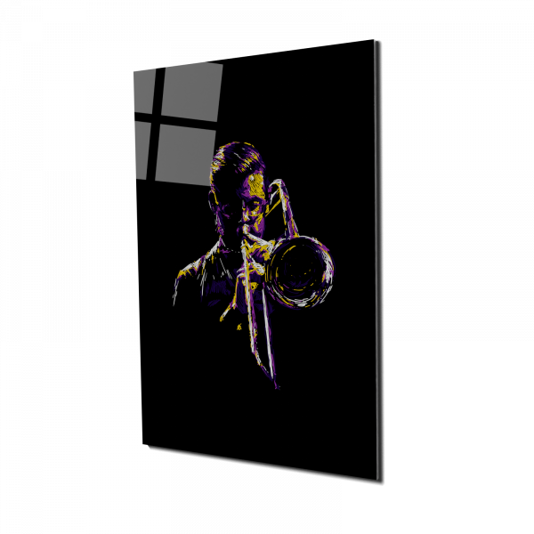 Tablou din sticla acrilica - trombonistul [0]