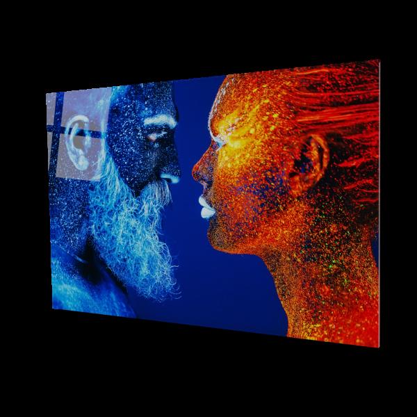 Tablou din sticla acrilica - man and woman profile 0