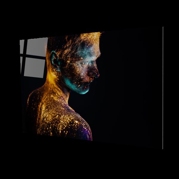 Tablou din sticla acrilica - painted man 0