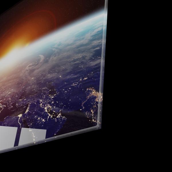 Tablou din sticla acrilica - planet earth space view 1