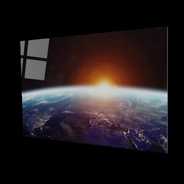 Tablou din sticla acrilica - planet earth space view 0